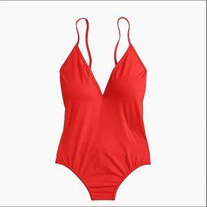 J.Crew Playa Montauk cross back one piece swimsuit